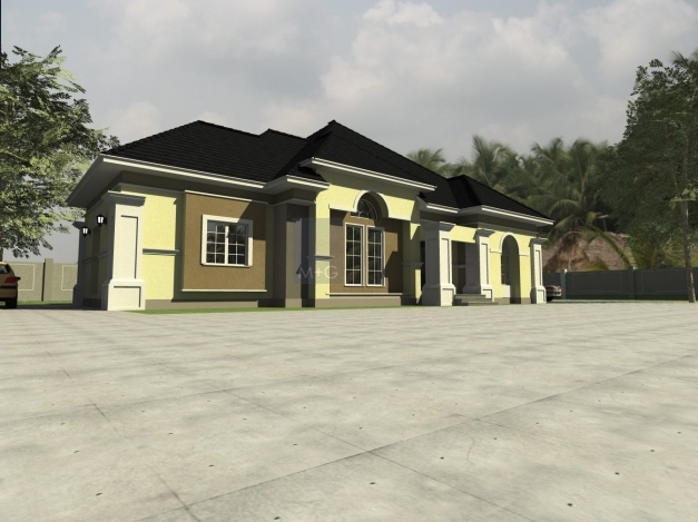 Stunning Contemporary Nigerian Residential Architecture 3 Bedroom Plan On A Half Plot Of Land In Nigeria Image