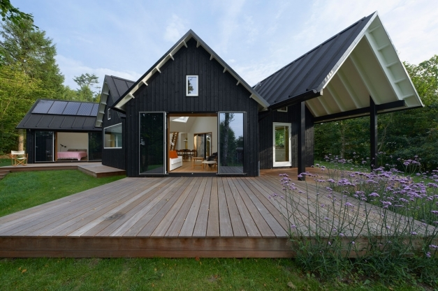 Stylish Danish Pitched Roof Summer House Powerhouse Company Design Milk Pitched Roof Design Pic