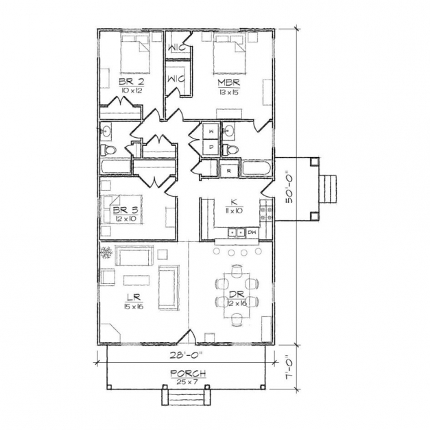 House plans for narrow lots for Narrow house plans with front garage