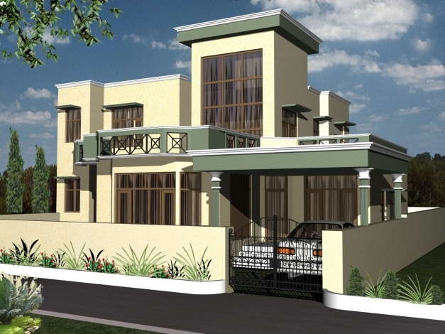 Awesome Duplex House Design Apnaghar House Design 3d Modern Duplex Photo