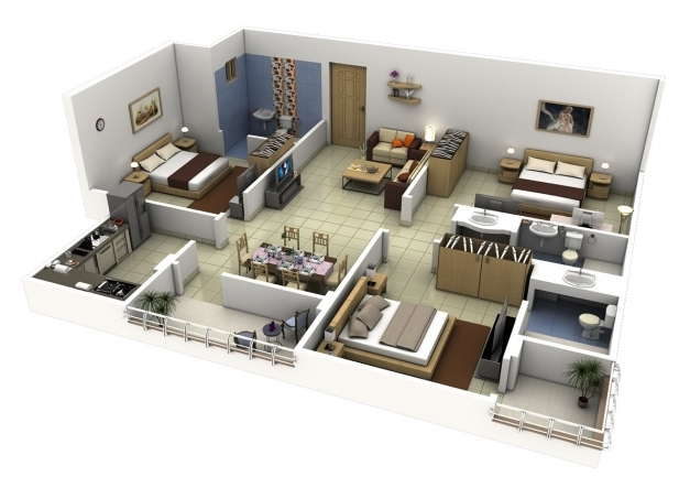 ... Best Bedroom 3 Bedroom Modern House Design Modern Affordable 3 Bedroom  Simple Three Bedroom House Plans ...