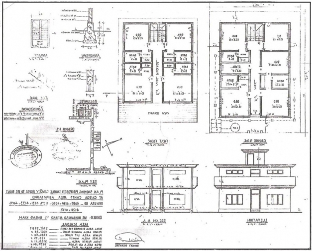 Best House Plan Building Drawing Plan Elevation Drawing House Plans House Plan With Elevation And Section Pics