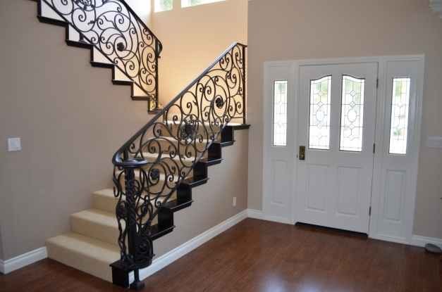 Delightful Interior Swirly Wrought Iron Staircase Design Decorative Wrought Iron Stair Designs Photo