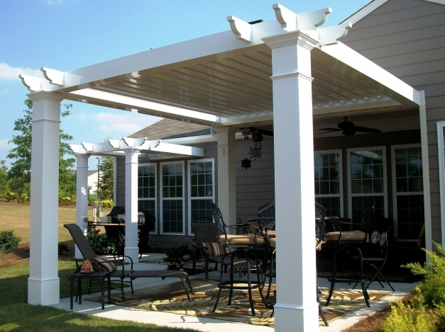 Delightful Pergola Roof Designs The Home Design Picking Your Favorite Pergola Roof Ideas Image