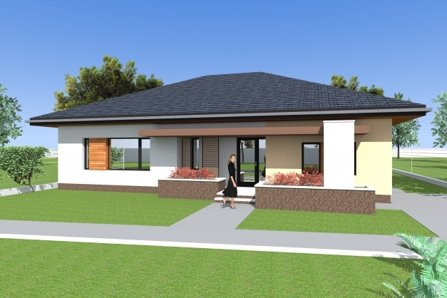 Delightful Three Bedroom Bungalow Design And 3d Elevations Single Floor Single Story Bungalow Design Pictures