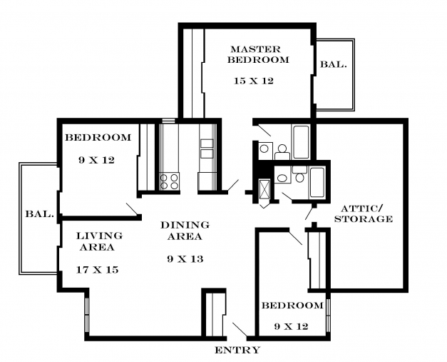 Fantastic Simple 3 Bedroom House Floor Plans Inspired Three Plan One Story 4 Bedroom Flat Plan On Half Plot Pictures