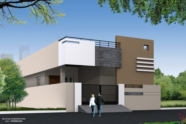 Front Elevation Design Single Floor : Single house elevation floor plans