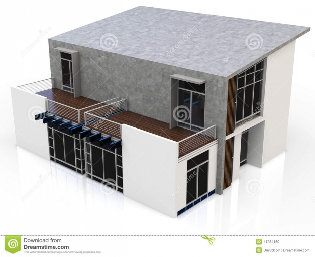 Fascinating 3d Modern Duplex House Stock Illustration Image 47284160 3d Modern Duplex Pictures