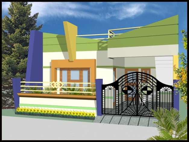 Contemporary Elevation Single Floor : Single floor front elevation house plans