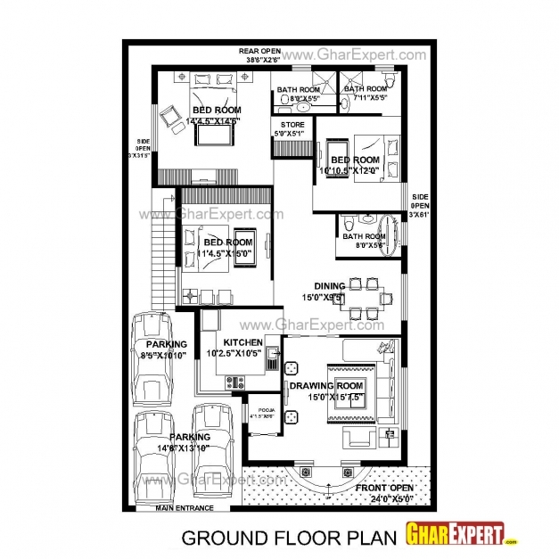 15 50 feet house plan house floor plans for Incredible house plans