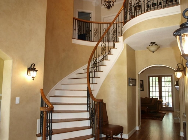 Marvelous Beautiful Wrought Iron Staircase Designs Wooden And Wrought Wrought Iron Stair Designs Pictures
