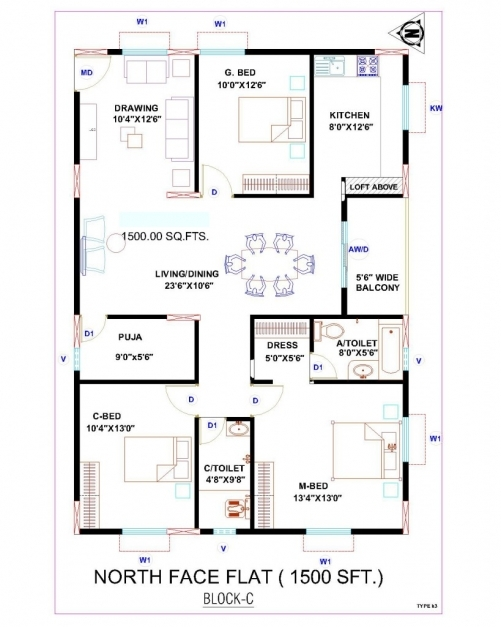 Marvelous House Plan North Facing 2 Bedroom House Plans As Per Vastu North Facing House Picture