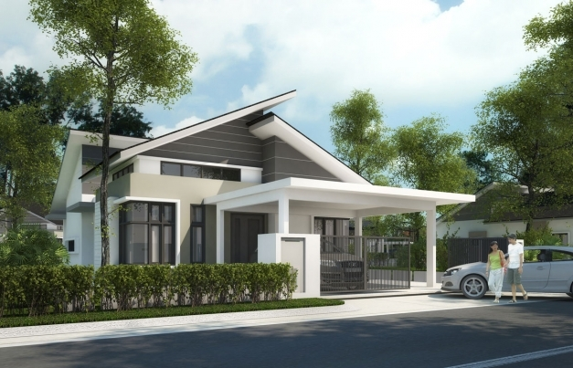 Remarkable Single Storey Bungalow Building Plans Online 60201 Single Story Bungalow Design Image