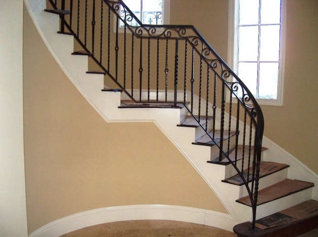 Remarkable Stylish Wrought Iron Stair Railings John Robinson House Decor Wrought Iron Stair Designs Photos