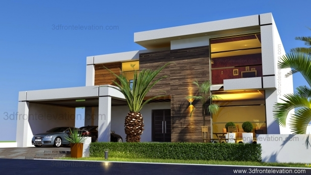 Stunning 3d Front Elevation Beautiful Contemporary House Design 2016 New House Elevation Picture