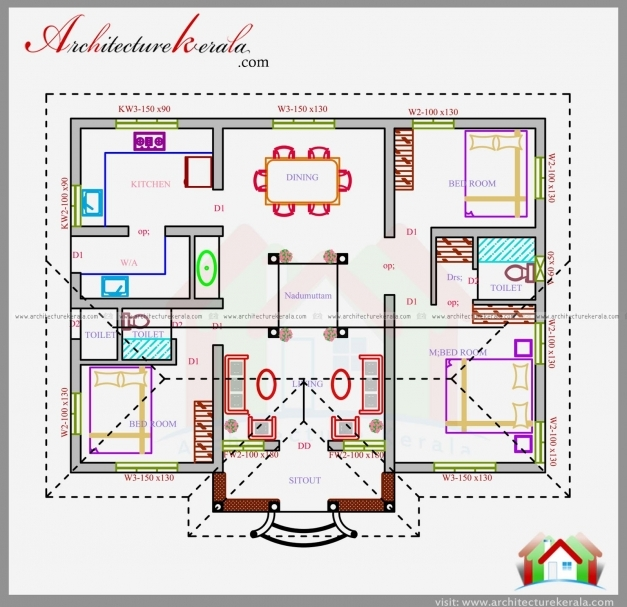 Stylish 1200 Sq Ft House Plan In Nalukettu Design Architecture Kerala Kerala Nalukettu House Plans Picture