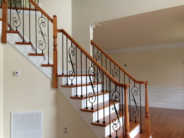 Wonderful Wrought Iron Stair Railings Designs John Robinson House Decor Wrought Iron Stair Designs Pic