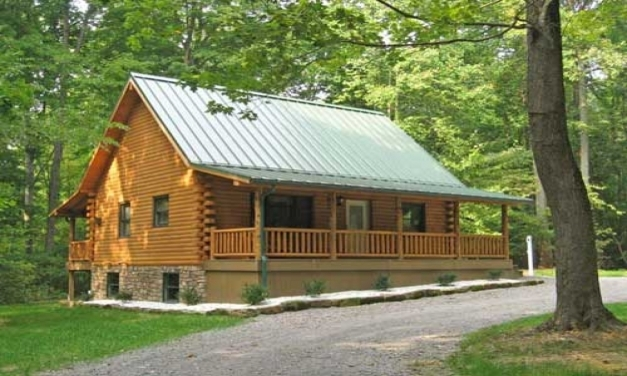 Log cabin floor plans with wrap around porch house floor for Cabin house plans with photos