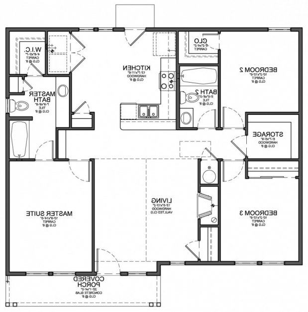 Inspiring Small Simple House Floor Plan Rare Design With Cheap