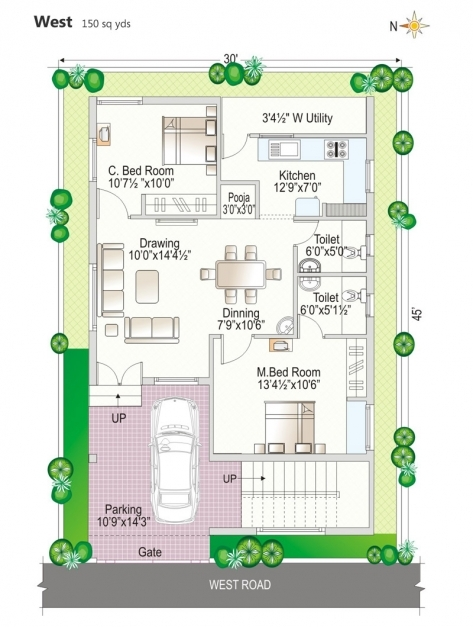 Delightful 0 Beautiful House Plan 30 X 45 And Floor Plans North Facing Map 30 X 45 House Plans North Facing Image