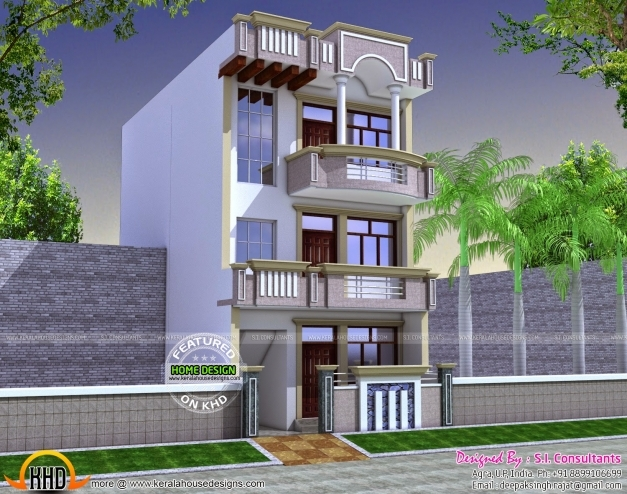 Fantastic 22x60 House Plan Kerala Home Design And Floor Plans 16 Feet Front Elevation Pics