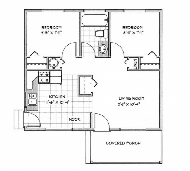Inspiring 900 sq ft house plans 1000 square foot ranch for Small house plans under 700 sq ft