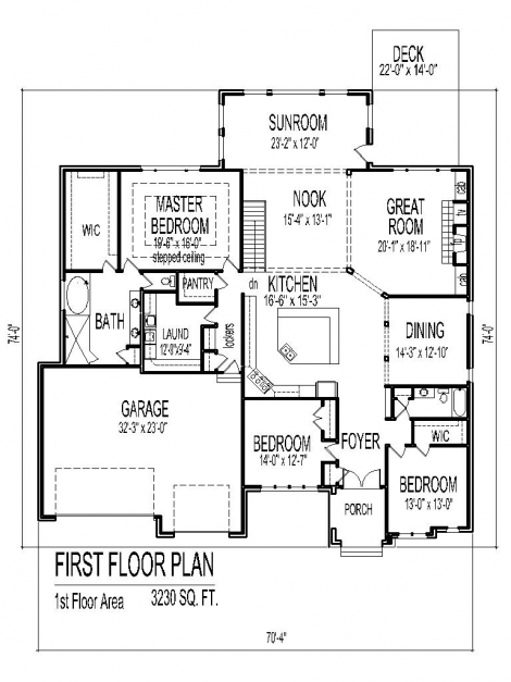 Marvelous 3 Bedroom 2 Bath House Plans 4 Bedroom 2 Bath Easy Home Design 3 Bedroom House Plan Single Floor Image