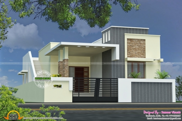 Single Floor Front Elevation Photos : Indian house front elevation photos for single