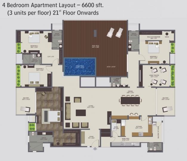Wonderful 4 bedroom apartment floor plans in 2017 for 4 bedroom flat floor plan