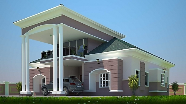 Amazing Modern House Plan In Ghana Unbelievable Fatak Bedroom Buildingplan Simple Modern Houses In Ghana For Half Plot Picture