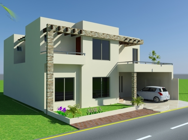 Front Elevation Of 3 Marla House : Marla house dessgin floor plans