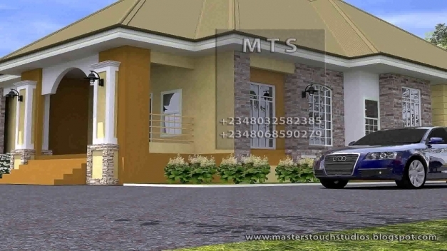 Fantastic 3 Bedroom House Design In Nigeria Youtube Simple Modern Houses In Ghana For Half Plot Photo