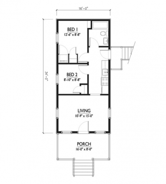 Incredible Well Suited Design 12 Ft Wide House Plans 8 Width 15 Feet Trends 15*50 House Map Pic