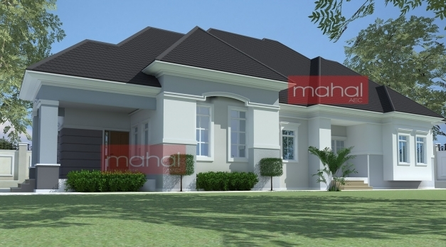 Inspiring Bedroom Bungalow Plan In Nigeria House Plans Modern Ghana Simple Modern Houses In Ghana For Half Plot Picture