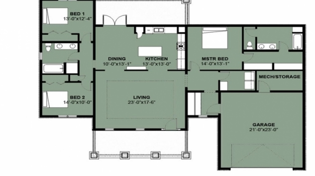 Inspiring Fascinating 3 Bedroom 2 Bath House Plans The Wooden Houses Simple 3 Bedroom House Plans Images