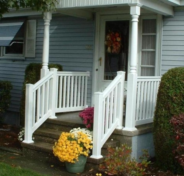 Inspiring Front Porch Modern Front Porch Design Using Small White Painted Painted Front Porches Pictures