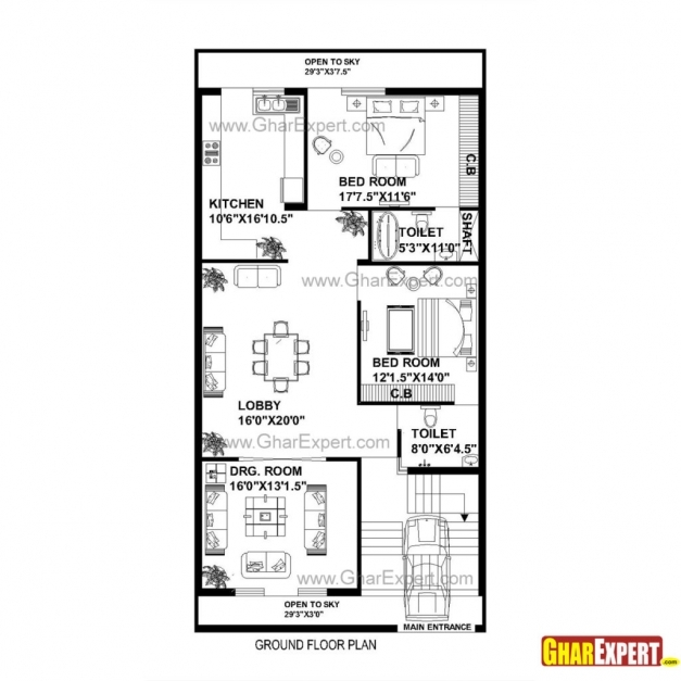 Marvelous X Sq Ft House Plans Arts Feet Plan Wonderful For Plot Size House Plan For 20 Feet By 60 Feet Plot Images