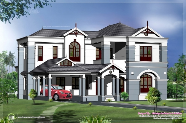 Outstanding 2500 Square Foot House Plans Modern Ranch Home Kerala Model Feet Modern Bungalow Architecture In 2500 Feet Year Photo