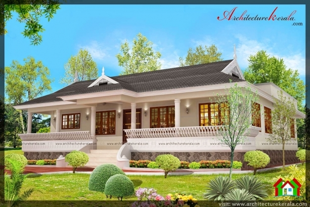 Outstanding Nalukettu Style Kerala House With Nadumuttam Architecture Kerala Small Nalukettu House Pictures