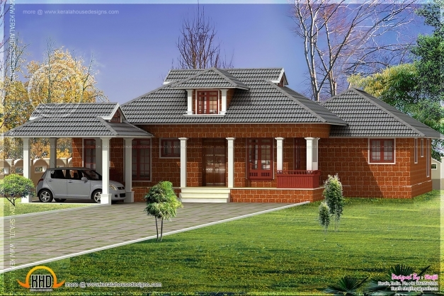 Remarkable House Plan Laterite House Design In Nalukettu Style Indian House Small Nalukettu House Photo