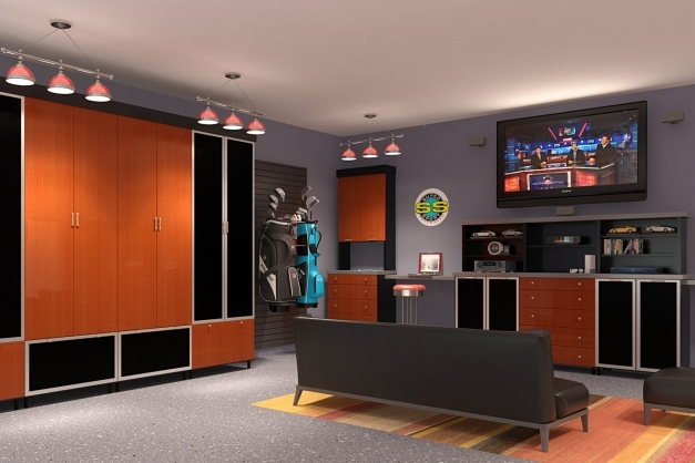 Stunning 29 Garage Storage Ideas Plus 3 Garage Man Caves Man Cave Designs Garage Pictures