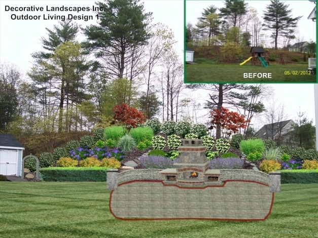 Stylish Landscape Landscaping Ideas For Slopes In Backyard The Garden Backyard Slope Landscaping Ideas Pics