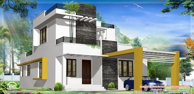 Stylish Modern Contemporary House Kerala Home Design Floor Plans House Kerala Style Contemporary Homes Image