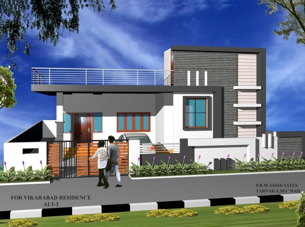 Amazing Residence View Done In 3dmax Single Storey Elevation Concept Single Floor Elevation Photos Pic