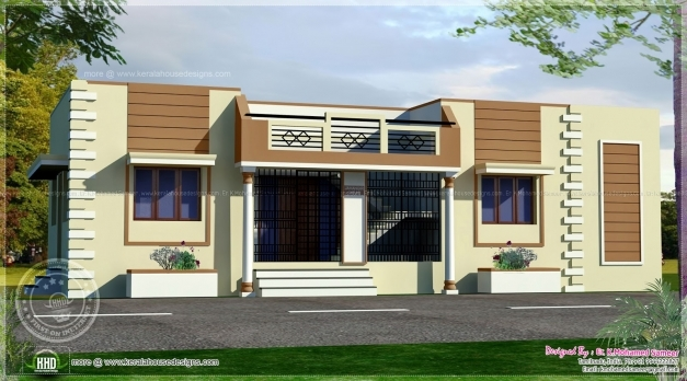 Amazing Tamilnadu Style Single Floor Home Kerala Design Plans Building Single Floor Elevation Photos Images