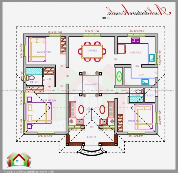 Awesome Sq Ft House Plans Plan In Nalukettu Design Architecturea Within Small Nalukettu House Plans Photo