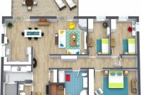Best 3 Bedroom Floor Plans Roomsketcher 3 Bedroom Flat Floor Plan Picture