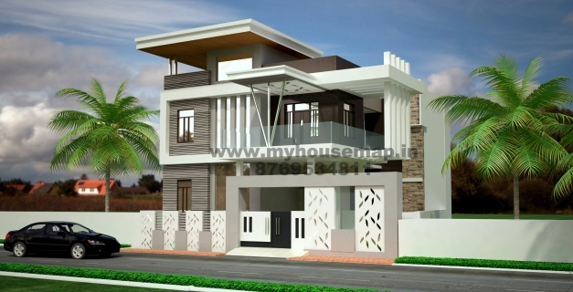Delightful Duplex House Elevation Design Front Elevation Design House Map Modern House Elevation Design Photos