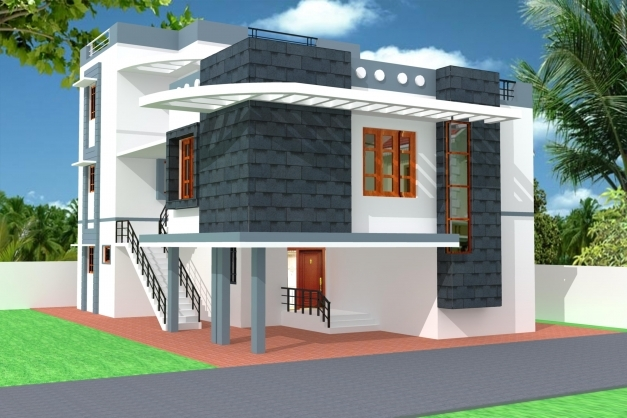 Fascinating Modern 3d Home Elevation Gharexpert House Ghar Beautiful Elevation Expert Photos
