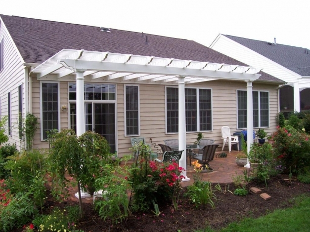 Incredible White Vinyl Pergola On Patio Deck Pinterest Vinyl Pergola Front Porch Pergola Pictures Pics